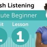 English Listening Comprehension Beginners 01