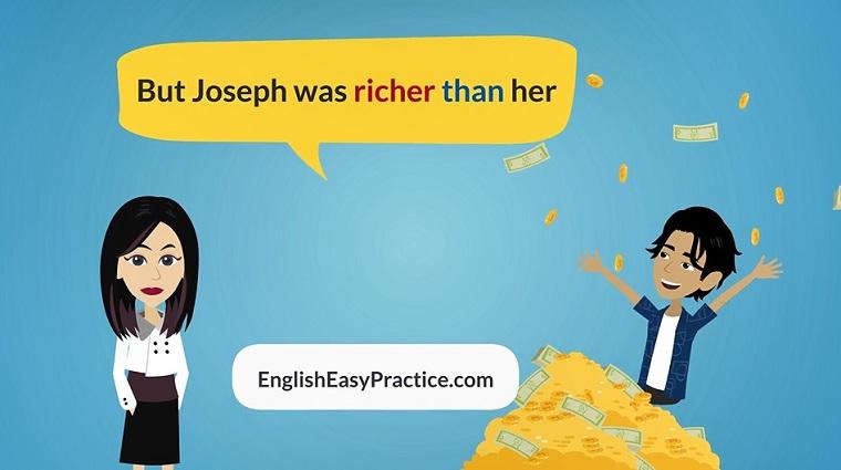 learn English grammar comperative superlative story